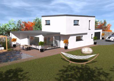 Maison individuelle sur mesure votre 3D avant réalisation